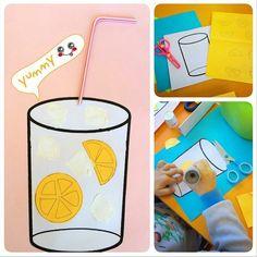 Lemonade craft idea for kids   Crafts and Worksheets for Preschool,Toddler and Kindergarten