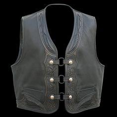 Viking Warrior, Biker Vest, Biker Leather, Snake, Boots, How To Wear, Jackets, Collection, Black