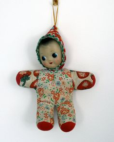 Vintage fabric doll pram toy 1960s magpieandhen/etsy.com - I had one of these, and loved it!!