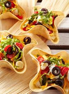Spice up a Mexican Meal with these cute little taco bowls while still eating healthy!! |eatingwell.com
