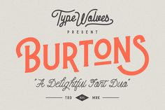Burtons by Typewolves on @creativemarket