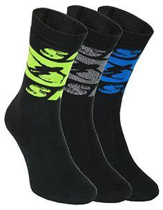 462aad679a33 3 paires de chaussettes Eponge SKI, taille 36-46 NOIR Parfait pour les  SPORTS