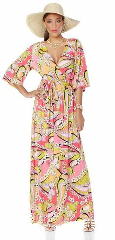 7df6b0ca0c4ed Maxi by Nikki Poulous + floppy straw hat #HSN School Looks, Too Cool For