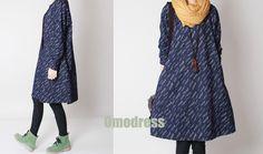 Marina riso punteggiato abito in cotone primavera  di Omodress su DaWanda.com