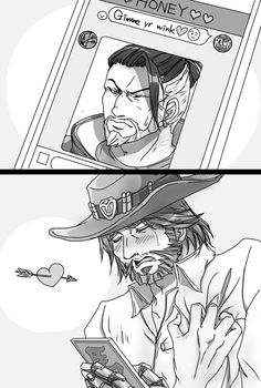Read from the story Galería Mchanzo by YoustWatanabe with reads. Jesse: Dame un guiño ❤️😉 Overwatch Hanzo, Overwatch Comic, Overwatch Memes, Overwatch Fan Art, Gay Comics, Funny Comics, Character Art, Character Design, Hanzo Shimada