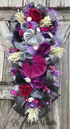Halloween Swag Halloween Wreath Pumpkin Wreath Fall Wreath
