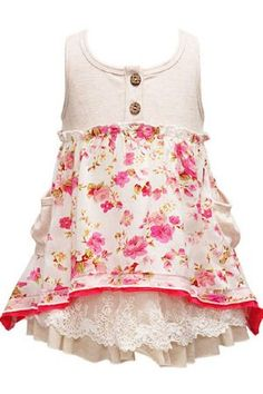 Spring 2012 Adorable Lace Hem Spring Dress18 months to 6X