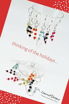 Handcrafted Jewelry, Handmade, Sparklers, Murano Glass, Precious Metals, Dangle Earrings, Ears, Gemstones, Holidays