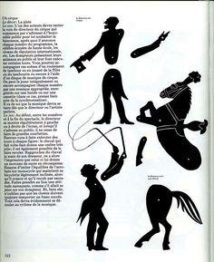 Pour fabriquer un spectacle d'ombres sur le thème du cirque. Extrait d'Ombres et silhouettes de Pieter van Delft, Jack Botermans et Hetty...