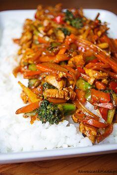 Pikantny kurczak z warzywami | Kawa i Czekolada Kebab, Cooking Recipes, Healthy Recipes, Best Appetizers, Food Inspiration, Chicken Recipes, Good Food, Food Porn, Food And Drink