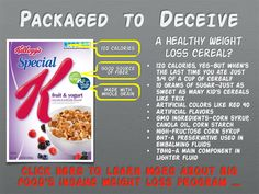 Is your so-called weight loss cereal really that good for you? What isn't Kellogg's telling you?