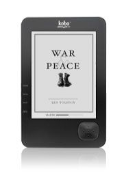 Kobo ereader. love having my library  come along with me.