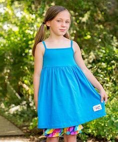 Another great find on #zulily! Light Turquoise Tank Dress - Infant, Toddler & Girls #zulilyfinds