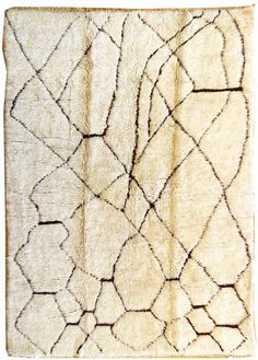 Moroccan Design Rugs Gallery: Vintage Beni Ourain Rug, Hand-knotted in Morocco; size: 7 feet 1 inch(es) x 9 feet 3 inch(es)