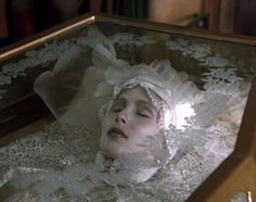 probably one of the most influential imagery of my entire life. Lucy Wistenra in her glass casket. Bram Stoker's Dracula.