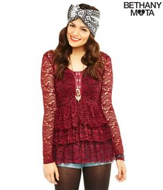 Lace Tunic from Bethany Mota Collection at Aeropostale