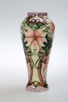 A Moorcroft pottery vase, the ovoid body tubelined and hand painted with the Blakeney pattern #ukauctioneers #moorcroft