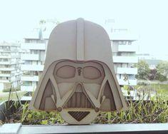 Darth Vader Lasercut – Wood by Paul sTu, via Behance #starwars