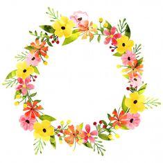 Discover thousands of Premium vectors available in AI and EPS formats Watercolor Cards, Watercolor Flowers, Logo Online Shop, Flower Bouquet Drawing, Frame Border Design, Floral Artwork, Decoupage Vintage, Flower Backgrounds, Flower Frame