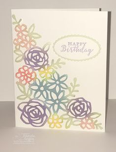 The Stampin' Bunny: Abstract Impressions Springtime Impressions Stampin Up! cards