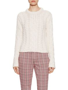 Cable Knit Crewneck Sweater by See by Chloe at Gilt/ great proportion between top and bottom.
