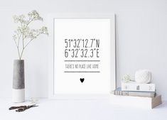 Originaldruck - POSTER personalisierte Startseite KOORDINATEN - A3 - ein Designerstück von WeJustLikePrints bei DaWanda