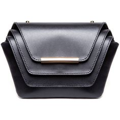 Ellia Wang - Layer Clutch Black ($620) ❤ liked on Polyvore featuring bags, handbags and clutches