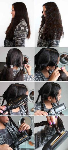 Cool Hairstyles You Can Do With Your Flat Iron - Hairstyling Hacks Every Girl Should Know - Easy Step By Step Tutorials And Hair Tips Every Girl Should Know To Get The Style And Look They Want Using A Flat Iron. Videos and Image How To's That Provide Simple Tips and Tricks For Using A Flat Iron To Get Hairstyles Quickly And Without Lots of Beauty Products - thegoddess.com/hairstyles-flat-iron