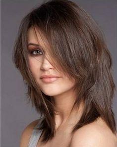 Modele de coupe de cheveux mi long dégradé | divers | Pinterest ...