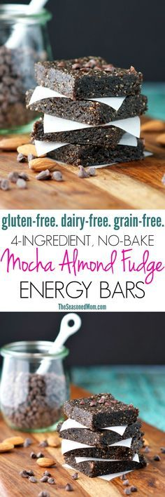 You only need 4 ingredients and 5 minutes for these healthy No-Bake Mocha Almond Fudge Energy Bars! Believe it or not, the rich, chocolatey treats are gluten-free, dairy-free, and grain-free...making them a clean eating snack to grab-and-go for instant fuel when you need it most! #LanetoGreatness #ad @bluediamond
