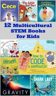 12 Multicultural STEM Books for Kids STEM picture Books for preschool and elementary kids with diverse characters - great read alouds with science, math, coding and engineering themes! Stem Activities, Activities For Kids, Books For Preschoolers, Diversity Activities, Multicultural Activities, Space Activities, Sequencing Activities, Space Books For Kids, Kid Books