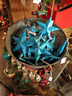 CHRISTMAS...You can pait these rustic stars any color to match your tree