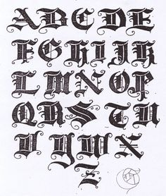 All that I like: OLD ENGLISH TEXT LETTERS