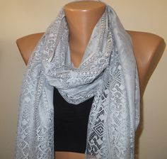 A personal favorite from my Etsy shop https://www.etsy.com/listing/185450109/ice-grey-light-fringed-scarf-grey-scarf