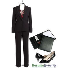 "Reminder for self, when its time to go back to an office!! ""Classic Suit - Job Interview Outfit - www.ResumeButterfly.com"" by getsnazzy on Polyvore"