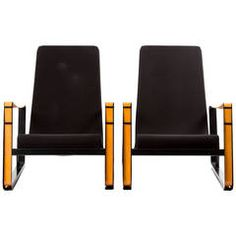Set of Two Cite Lounge Chairs of Prouve for Vitra
