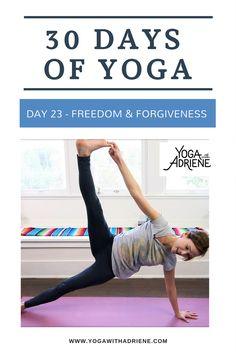 30 Days Of Yoga - Day This sequence invites us to find power and strength through acceptance, forgiveness and letting go. This practice will give you a good workout, stretch, strengthen and soothe. But beyond that, this is the perfect sequence to prac Pilates For Beginners, Yoga Poses For Beginners, Beginner Pilates, Pilates Challenge, 30 Day Workout Challenge, Free Yoga Videos, 30 Day Yoga, Yoga With Adriene, Morning Yoga