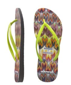 9113a2dc358779 Slim style with vibrant multi-coloured Missoni pattern print. Fluro green  slim strap