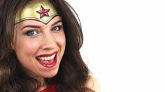 face painting Wonder Woman video tutorial, half face