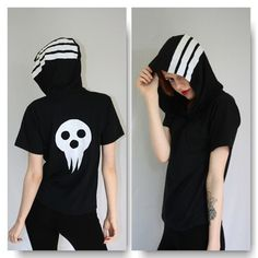 Hey, I found this really awesome Etsy listing at https://www.etsy.com/listing/210457684/soul-eater-death-the-kid-hooded-tee
