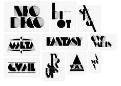 Neo Deco Typeface (Alex Trochut) on Behance