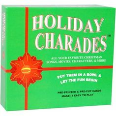 Holiday Charades - Act out Christmas related song titles, movies, characters etc. Holiday Charades is a game I love to play during the. Family Fun Games, Games For Kids, Charades For Kids, Winter Christmas, Christmas Ornaments, Favorite Christmas Songs, Therapy Games, Holiday Movie, Christmas Traditions