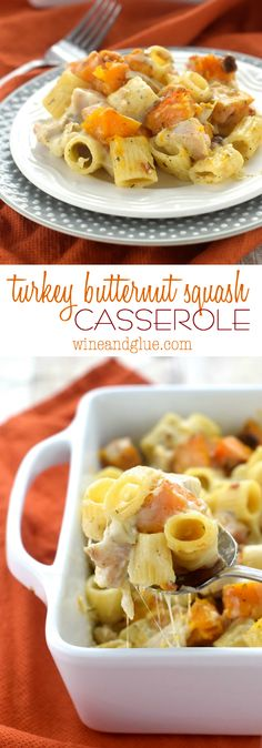 This Turkey Butternut Squash Casserole is delicious, and the perfect thing to throw together for a weeknight meal.