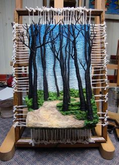 Dimensional Weaving – Martina Celerin fiber art: Taking the Redeye to Ohio Tejido dimensional: arte de fibra de. Art Fibres Textiles, Textile Fiber Art, Weaving Textiles, Weaving Patterns, Card Weaving, Weaving Art, Loom Weaving, Tapestry Weaving, Felting Tutorials