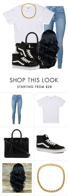 """."" by trillest-queen ❤ liked on Polyvore featuring 7 For All Mankind, Bonobos, Yves Saint Laurent, Vans, women's clothing, women, female, woman, misses and juniors"
