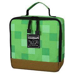 JINX Minecraft Creeper Block Insulated Kids School Lunch Box, Green, x x Minecraft Bag, Minecraft Gifts, Minecraft Merchandise, Toy Swords, Lunch Tote Bag, Kids Lunch For School, Insulated Lunch Box, Side Bags, Green And Brown