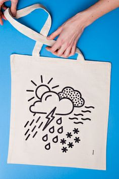 All Weather Tote Bag - Barbara Hennequin + een ontwerp - Studio for Graphic design