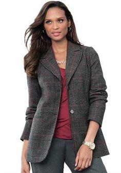 Tall Wool Blazer | Plus Size Jackets & Blazers | Jessica London