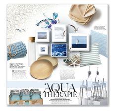 """aqua"" by daha-mk ❤ liked on Polyvore featuring interior, interiors, interior design, home, home decor, interior decorating, Trina Turk, H&M, Crate and Barrel and Calypso St. Barth"