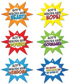 VBS 2017 Hero Central: Discover Your Strength in God! - Hero Code Mobiles (Pkg of 6)